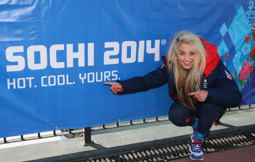 Aimee Fuller has caused a stir in Sochi (Picture: Getty Images)