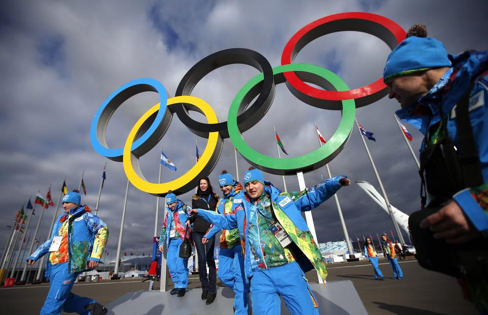 The Sochi Winter Olympics got underway today so get your official merchandise now (Picture: Reuters/Marko Djurica)