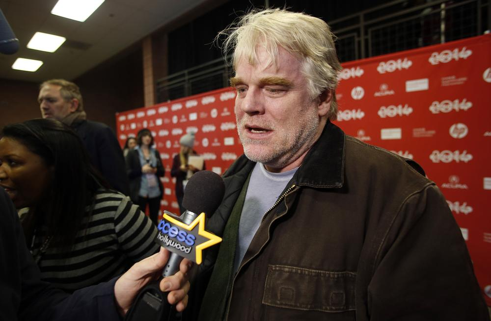 Actor Philip Seymour Hoffman attends the premiere of the film A Most Wanted Man at the Sundance Film Festival in Park City, Utah, January 19, 2014. REUTERS/Jim Urquhart (UNITED STATES - Tags: ENTERTAINMENT) Jim Urquhart/Reuters