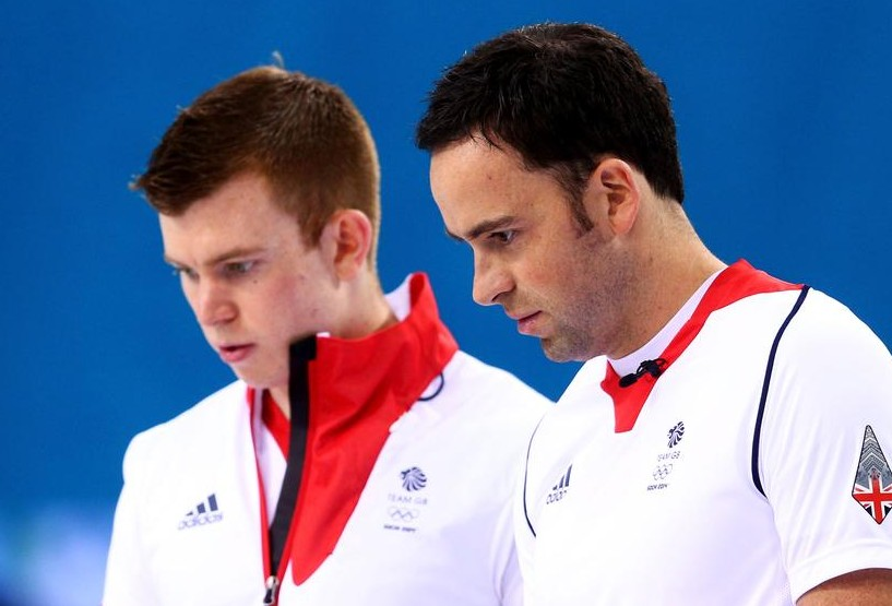 Greg Drummond, left, and skip David Murdoch confer during the final (Picture: Getty Images)
