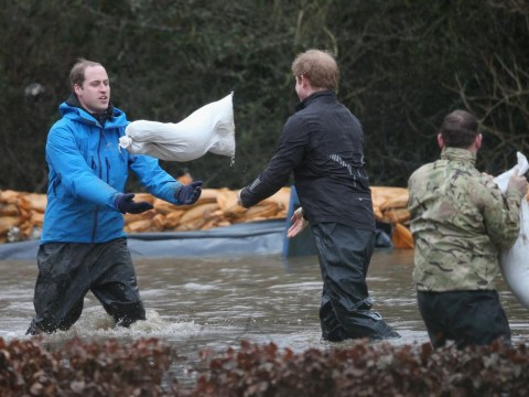 Princes William and Harry join armed forces in flood relief efforts