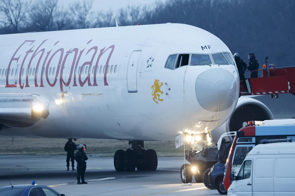 Co-pilot 'hijacks Ethiopian plane' before diverting to Geneva Airport
