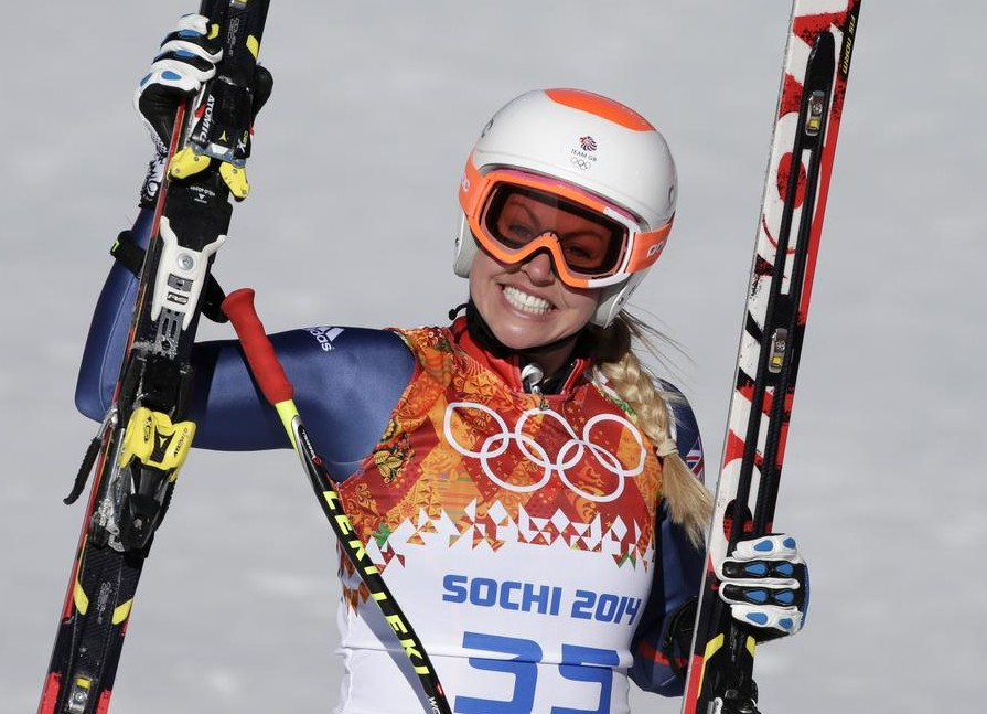 Chemmy Alcott smiles after finishing (Picture: AP)