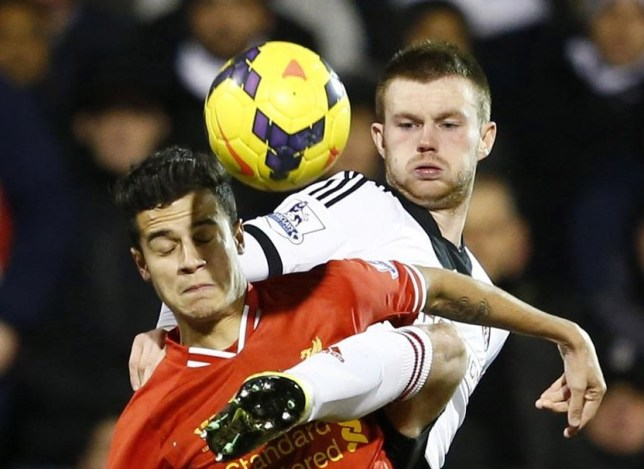 Ryan Tunnicliffe in one of his two appearances for Fulham (Picture: Reuters)