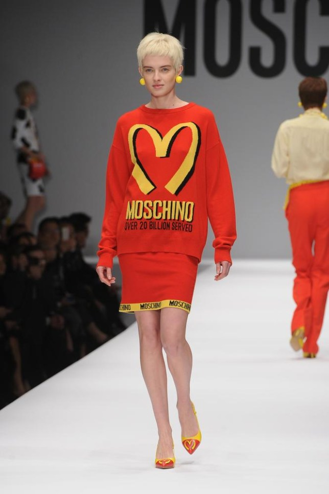 Moschino gives us fast fashion for autumn/winter 2014 (Picture: Jacopo Raule/Getty Images)