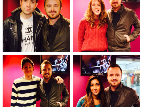 Breaking Bad's Aaron Paul does Nick Grimshaw's Radio 1 breakfast show, everyone's mad they missed it
