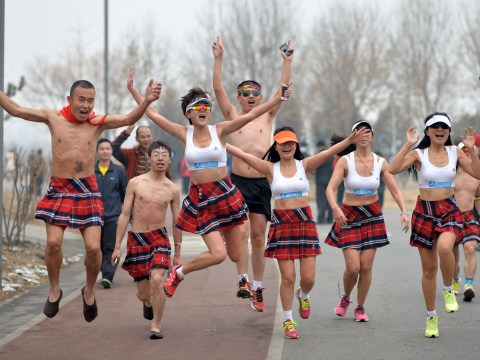 Gallery:  Beijing underwear run