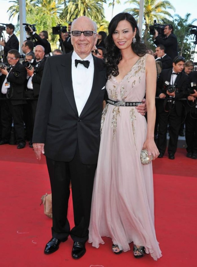 """FILE  NOVEMBER 20:  Rupert Murdoch And Wendi Deng Murdoch reached an undisclosed divorce settlement November 20, 2013 in a New York City courtroom.  The judge gave the couple 60 days to fulfill the terms of the agreement before their divorce is finalized. CANNES, FRANCE - MAY 16:  Rupert Murdoch (L) and wife Wendi attend """"The Tree Of Life"""" premiere during the 64th Annual Cannes Film Festival at Palais des Festivals on May 16, 2011 in Cannes, France.  (Photo by Pascal Le Segretain/Getty Images)"""