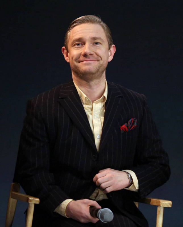 Martin Freeman attending the Meet The Filmmakers: Sherlock event at the Apple Store, Regent Street, London, to discuss the BBC programme. PRESS ASSOCIATION Photo. Picture date: Tuesday February 4, 2014. Photo credit should read: Chris Radburn/PA Wire