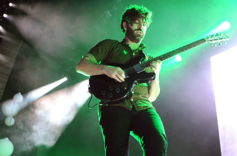 Yannis Philippakis was in school plays and a bassist in other bands before joining Foals (Picture: Kevin Winter/Getty)
