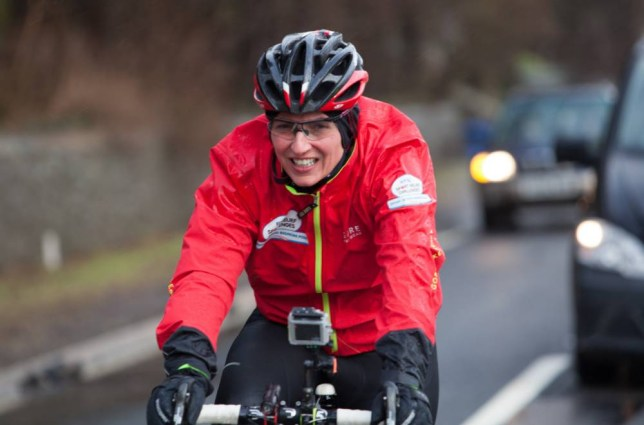 Handout photo dated 08/02/14 issued by Comic Relief of Davina McCall beginning her Sport Relief challenge in Edinburgh, the seven-day journey will see her run, swim and cycle from Edinburgh to London.  PRESS ASSOCIATION Photo. Issue date: Saturday February 8, 2014. See PA story SHOWBIZ Davina. Photo credit should read: Alex Walker/Comic Relief/PA Wire NOTE TO EDITORS: This handout photo may only be used in for editorial reporting purposes for the contemporaneous illustration of events, things or the people in the image or facts mentioned in the caption. Reuse of the picture may require further permission from the copyright holder.