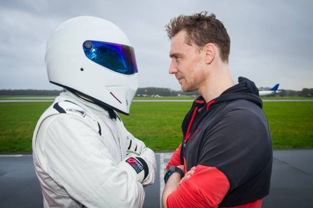 Marvel movie star Tom Hiddleston gets to grips with Top Gear's Reasonably Priced Car in the next episode. In new pictures Tom is seen going head-to-head with The Stig - but where will he be on that leaderboard?