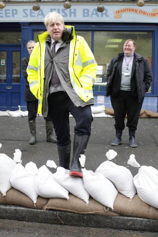 UK floods, David Cameron, Boris Johnson, Ed Miliband, Nigel Farage, Croydon, Staines, MIddlesex, Chertsey, Surrey, Wraysbury, Berkshire