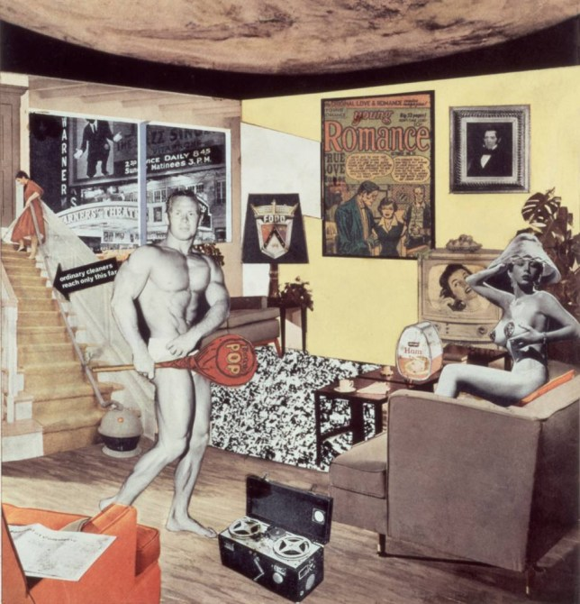 Richard Hamilton's 1956 work, 'Just what is it that makes today's homes so different, so appealing?' (Picture: The Estate of Richard Hamilton)