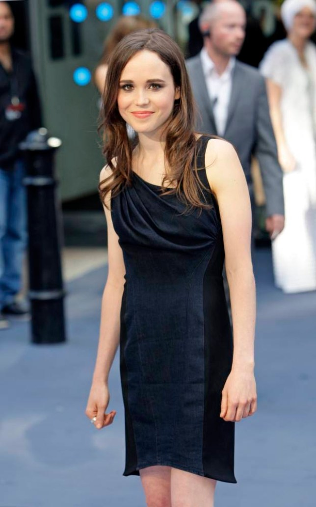 epa04078704 (FILE) The file picture dated 08 July 2010 shows Canadian actress Ellen Page arriving at the UK premiere of Inception held at the Odeon cinema, Leicester Square, London, Britain. According to media reports on 15 February 2014, Ellen Page revealed on 14 February that she is homosexual.  EPA/JONATHAN BRADY