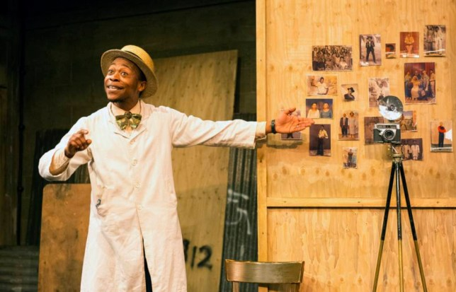 Tonderai Munyevu as Styles in Sizwe Banzi Is Dead at Young Vic (Picture: Richard Hubert Smith)