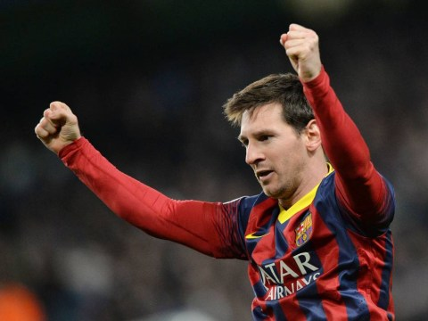 Lionel Messi gives Barcelona the lead over Manchester City as Martin Demichelis sees red