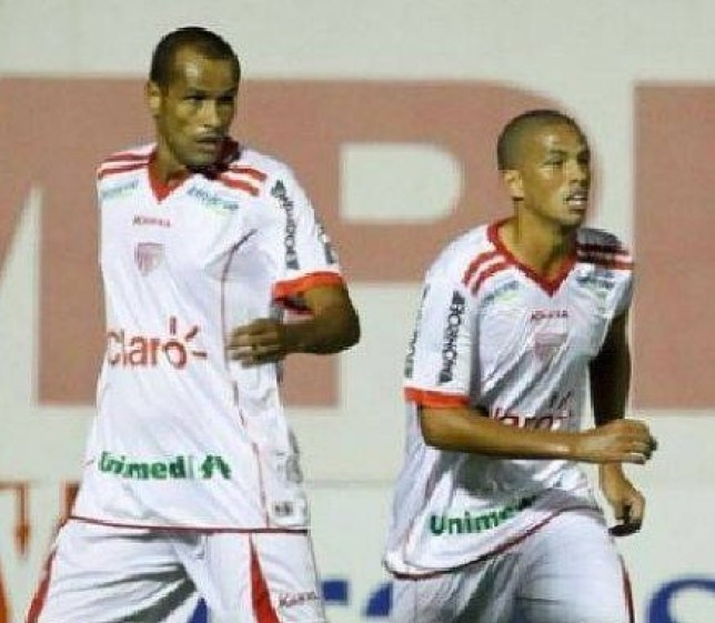 Rivaldo, left, and Rivaldinho in action for Mogi Mirim