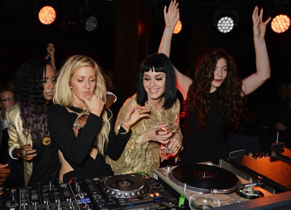 Ellie Goulding, Katy Perry and Lorde form the ultimate DJ trio after Brit Awards