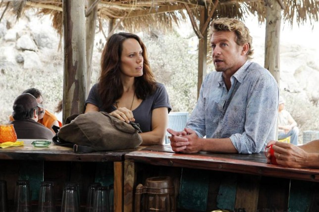 Emily Swallow as Kim Fischer and Simon Baker as Patrick Jane in The Mentalist (Picture: C5)