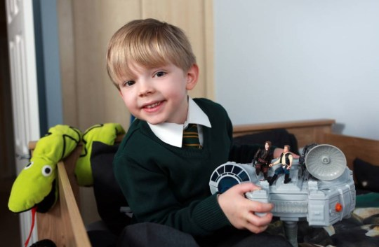 """Picture shows - 4 year old Lucas Whiteley who recieved personal response to his space related questions from NASA.  See Ross Parry copy RPYNASA A space-mad schoolboy was the star of the class when NASA personally answered his questions about the universe for a project. When four-year-old Lucas Whiteley asked his dad to help him contact the experts across the pond, they didn't expect a detailed response. But the three questions they sent to the agency were met with a 10-minute video by NASA engineer Ted Garbeff, allowing them a virtual tour round his base in California and answering little Lucas's musings. Dad James, from Wakefield, West Yorkshire, was over the moon, saying it had been """"the most amazing response to my son's questions."""" He said: """"When I was a kid I wrote to NASA and got a brochure, so when Lucas was doing a project on space I thought we might be lucky if we sent a video of Lucas asking some questions. """"What we got back was amazing. Obviously Ted has thought about his audience and gone to a lot of trouble just for them. rossparry.co.uk / Steven Schofield"""