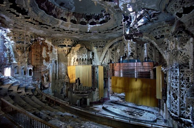 The United Arts Theater features in Yves Marchand and Romain Meffre's 2010 series The Ruins Of Detroit (Picture: Tristan Hoare Gallery/Yves Marchand and Romain Meffre)