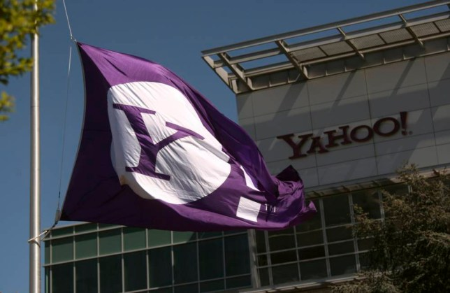 The Yahoo logo is shown at the company's headquarters in Sunnyvale, California in this file photo taken April 16, 2013. Britain's spy agency GCHQ intercepted millions of people's webcam chats and stored still images of them, including sexually explicit ones, the Guardian newspaper reported on Thursday.  REUTERS/Robert Galbraith/Files   (UNITED STATES - Tags: BUSINESS SCIENCE TECHNOLOGY POLITICS)