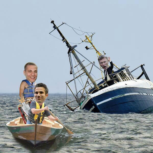 David Moyes trolled with 'sinking ship' picture as Nemanja Vidic quits Manchester United