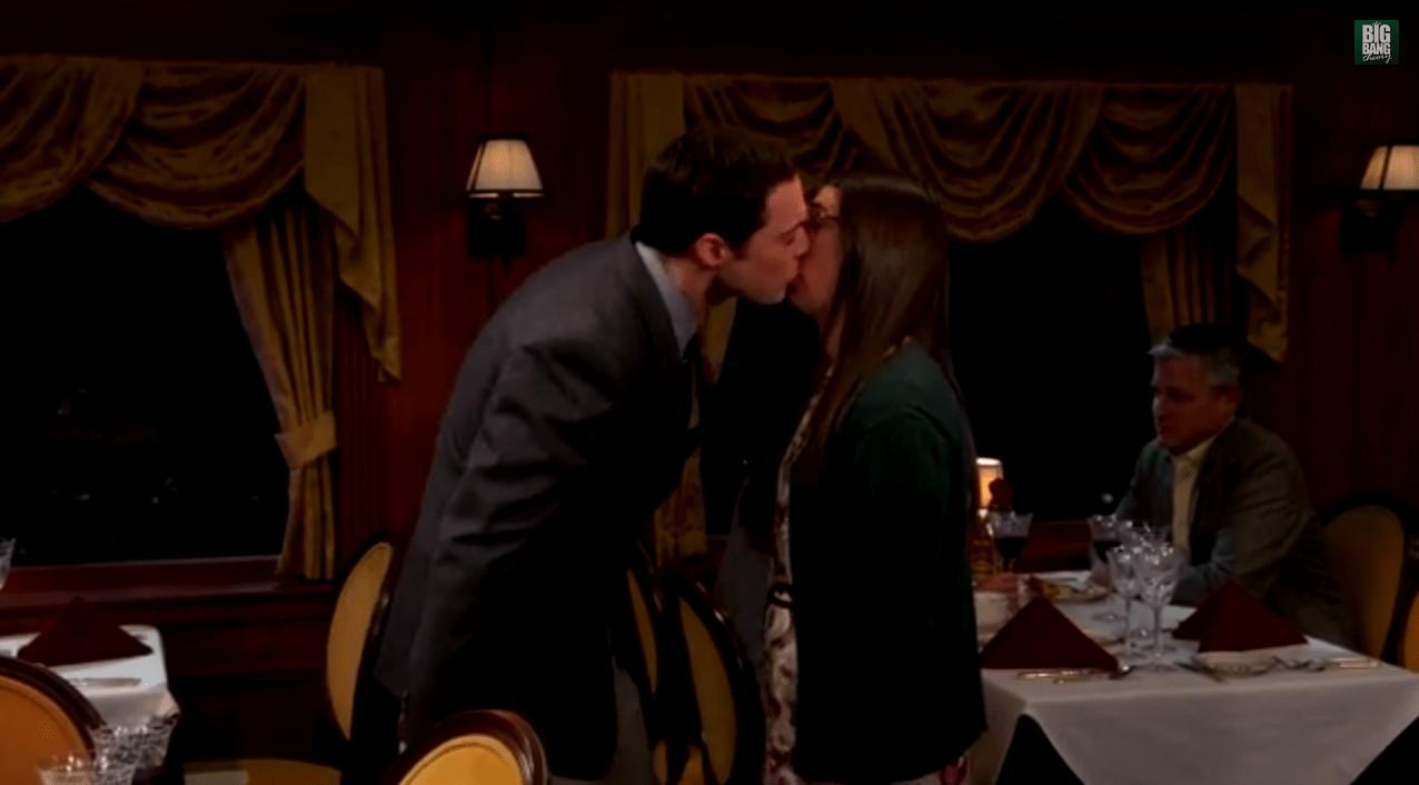 Big Bang Theory kiss