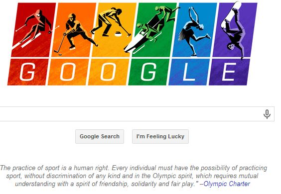 Sochi Winter Olympics 2014: Rainbow Google doodle supports gay rights in Russia