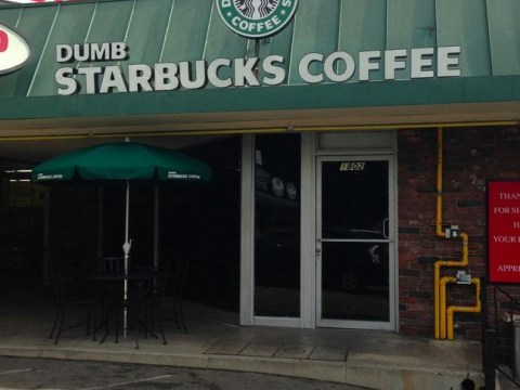 A dumb idea? 'Dumb Starbucks' spoof serves Dumb Frappuccinos, with a lawsuit probably on the way