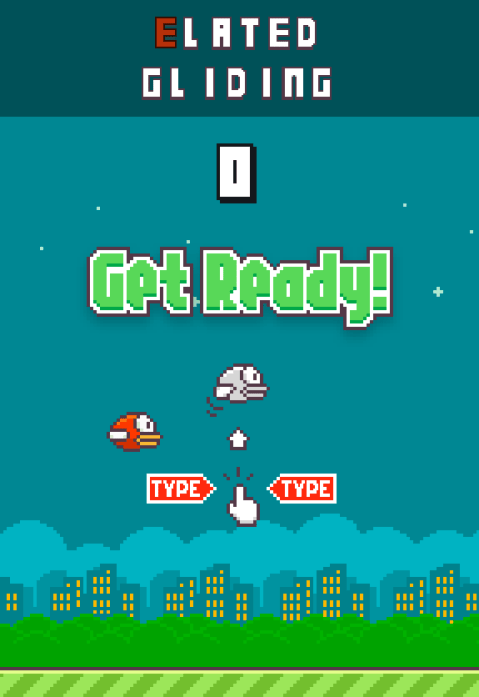 Flappy Bird Typing Tutor is somehow even more annoying than the original