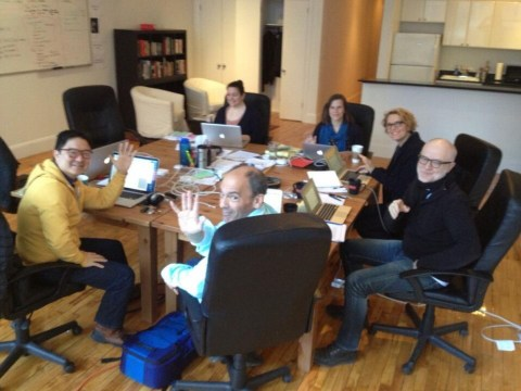 House of Cards creator tweets behind-the-scenes snap showing writers already hard at work on season 3