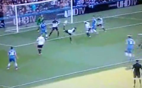 Watch Phil Jagielka's epic 'scorpion kick' clearance for Everton against Chelsea