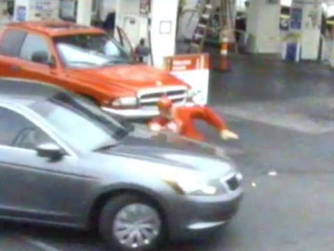 Video: OAP ran over in shocking road rage incident caught on CCTV
