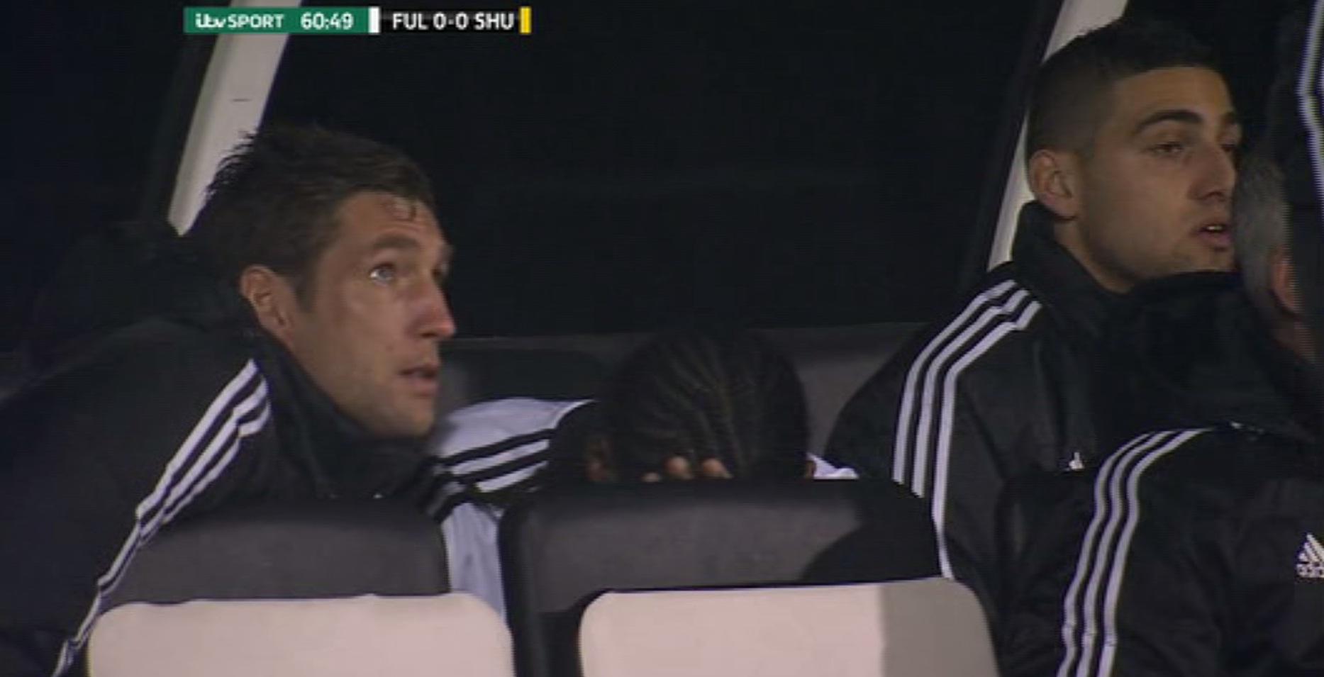 Fulham's Hugo Rodallega distraught at Sheffield United subbing