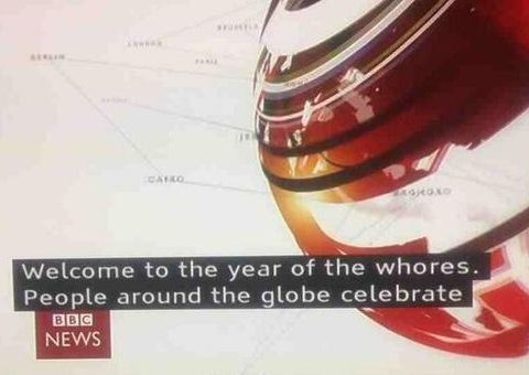 BBC caption fail: Welcome to the year of the whores