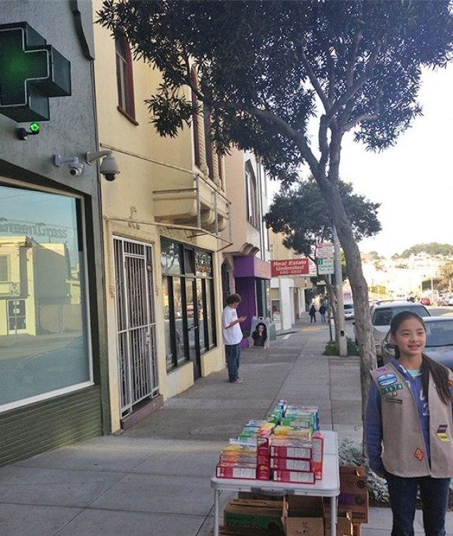 Danielle Lei: Genius Girl Scout sells cookies outside cannabis clinic