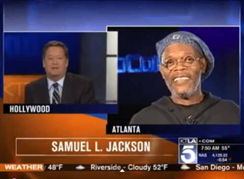 Reporter mistakes Samuel L Jackson for Laurence Fishburne live on air