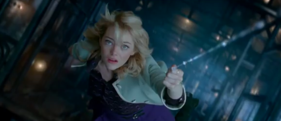Emma Stone plays Gwen Stacy in the Spider-Man sequel (Picture: Sony Pictures)