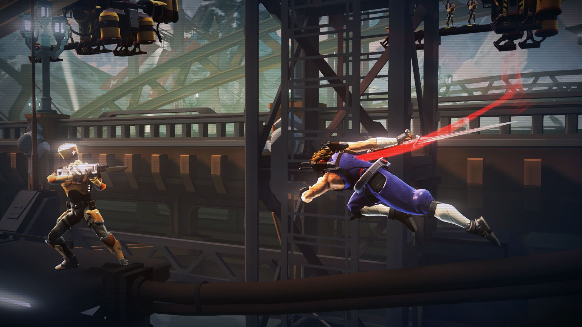Strider (PS4) – actually he never strides anywhere, he just runs...