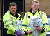 Letter bomb police scene