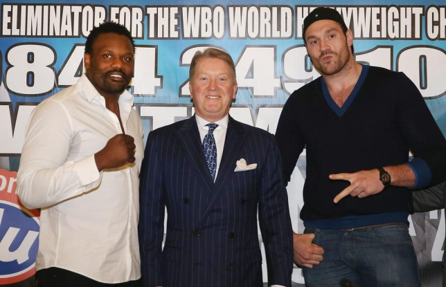 Dereck Chisora and Tyson Fury to meet in a final eliminator
