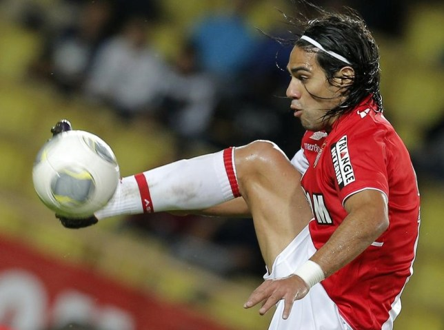 Radamel Falcao in action for Monaco (Picture: AP)