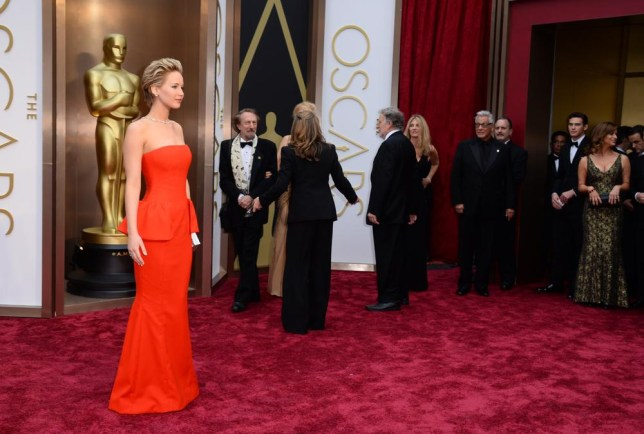 Jennifer Lawrence was one of the best dressed on the night in trusty Dior (Picture: Jordan Strauss/Invision/AP)