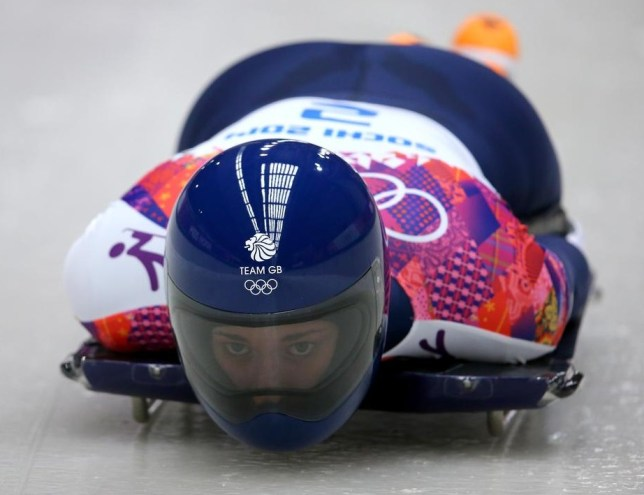 Lizzy Yarnold races to Olympic gold (Picture: Getty Images)