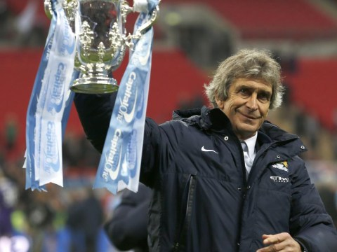 Whoops! Manchester City boss Manuel Pellegrini says he loves the pressure of managing Manchester United
