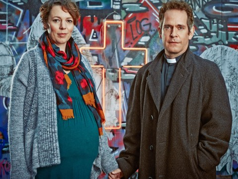 Tom Hollander plays a clergyman who is 'an ordinary bloke' in Rev