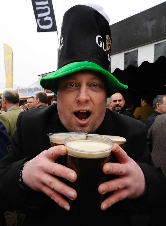 You may not be quite as excited about drinking a pint of Guinness tonight as this guy (Picture: Alan Crowhurst/Getty Images)