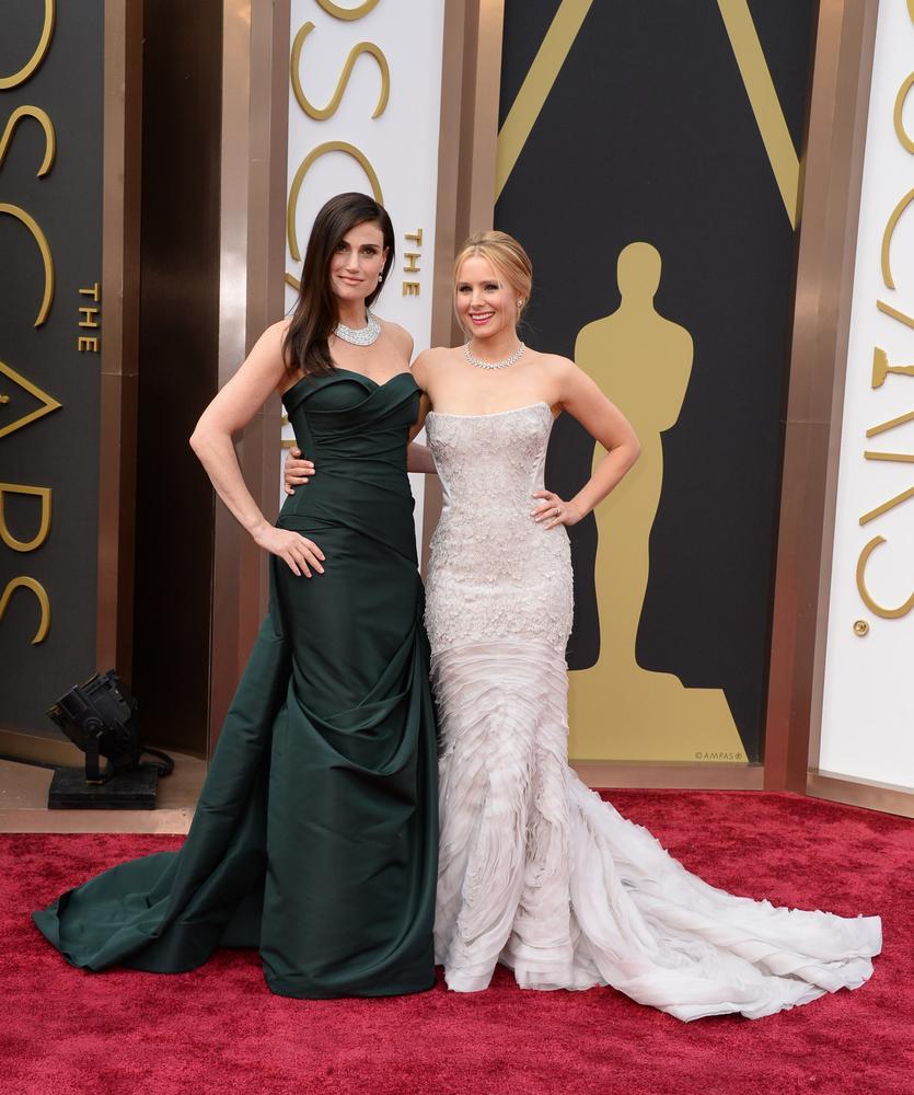 Idina Menzel, left, and Kristen Bell